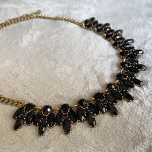 **Gold & Black J Crew Necklace**